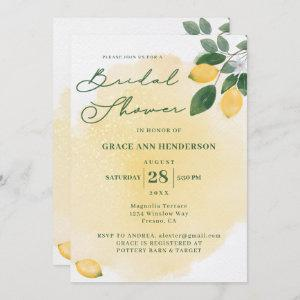 Watercolor Lemons Bridal Shower Invitation starting at 2.40