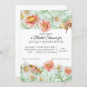 Watercolor Mint Green Coral Floral Bridal Shower Invitation starting at 2.55