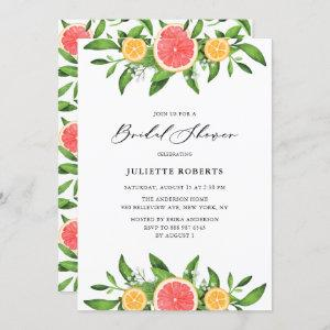 Watercolor Oranges and Grapefruits Bridal Shower Invitation starting at 2.40
