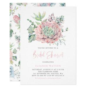 Watercolor Pastel Succulents Bridal Shower Invitation starting at 2.40