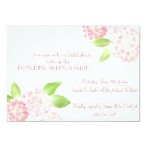 Watercolor Pink Hydrangea Invitation starting at 2.21