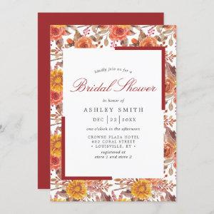 Watercolor Rustic Fall Floral Autumn Bridal Shower Invitation starting at 2.40