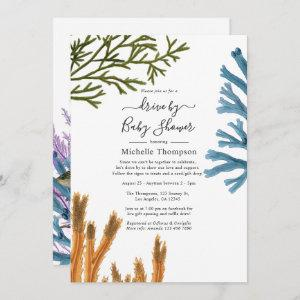 Watercolor Seaweed Drive By Bridal or Baby Shower Invitation starting at 2.51