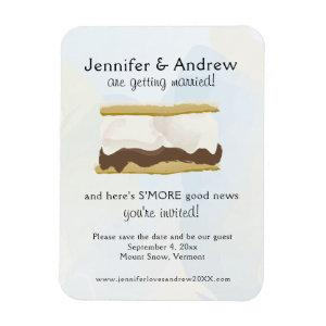 Watercolor S'mores Blue Save the Date Magnet starting at 5.25