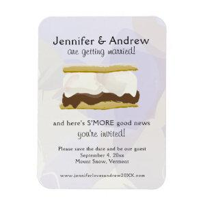Watercolor S'mores Purple Save the Date Magnet starting at 5.25