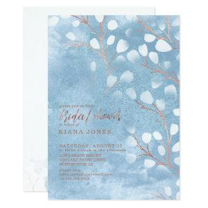 Watercolor Snowdrops Bridal Shower Blue ID726 Invitation starting at 2.36
