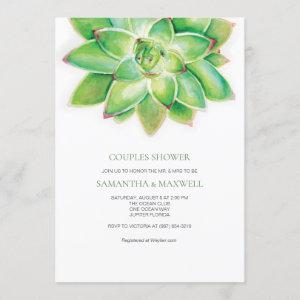 Watercolor Succulent Couples Shower Invitation starting at 2.35