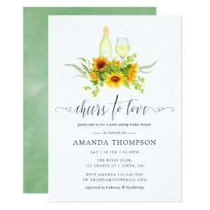 Watercolor Sunflowers Bridal Shower Wine Tasting Invitation starting at 2.66