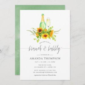 Watercolor Sunflowers Brunch and Bubbly Invitation starting at 2.51