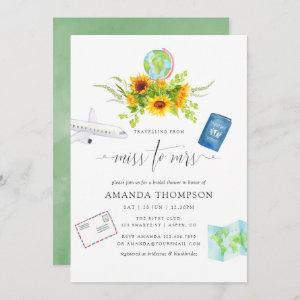 Watercolor Sunflowers Miss To Mrs Bridal Shower Invitation starting at 2.51