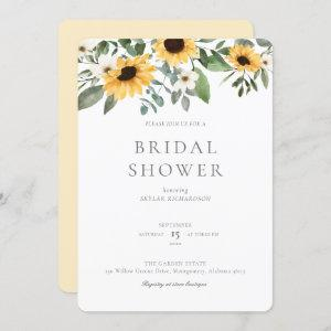 Watercolor Sunflowers & Wildflower Bridal Shower Invitation starting at 2.75