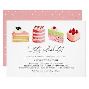 Watercolor Sweet Cakes Bridal Luncheon Invitation starting at 2.40