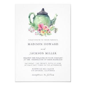 Watercolor Tea Party Wedding Invitation starting at 2.40