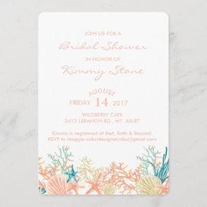 Watercolor Under The Sea Bridal Shower Invitation starting at 2.71