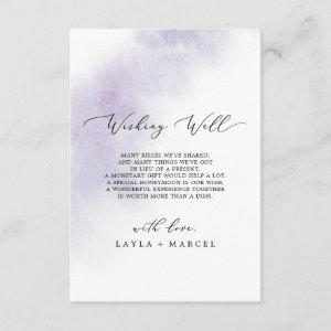 Watercolor Wash   Purple Wishing Well Card starting at 1.91