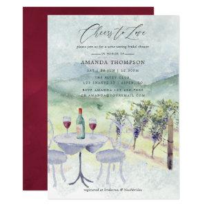 Watercolor Wine Tasting themed Bridal Shower Invitation starting at 2.55