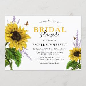 Watercolor Yellow Sunflower Bridal Shower Invitation starting at 2.40