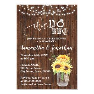 We do bbq couple shower sunflowers country wedding invitation starting at 2.55