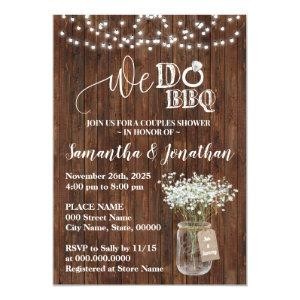 We do bbq couples shower country wedding invitation starting at 2.25