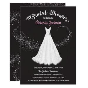 Wedding Dress Swirling stars bridal shower Invitation starting at 2.40