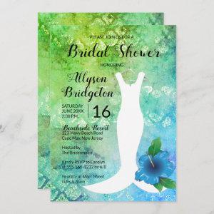 Wedding Gown Beach Themed Bridal Shower Invitation starting at 2.51