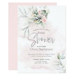 Wedding | Rustic Floral Garden Pale Pink Invitation starting at 2.36