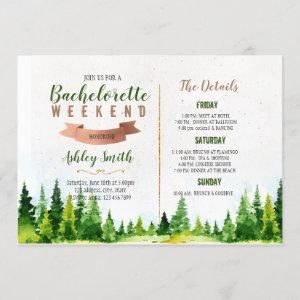 Weekend in the wood bachelorette invitation starting at 2.50