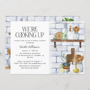 We're Cooking Up Watercolor Quote Bridal Shower starting at 2.40