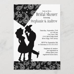 Western Cowgirl couple Bridal Shower Invitation starting at 2.66