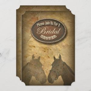 Western Horses Cowgirls Bridal Shower Invitation starting at 3.02