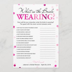 What is the bride wearing game | Magenta Confetti Invitation starting at 2.35