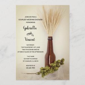 Wheat and Hops Brewery Couples Wedding Shower Invitation starting at 2.60
