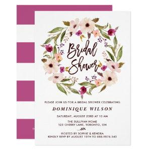 Whimsical Bohemian Floral Wreath Bridal Shower Invitation starting at 2.40