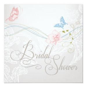 Whimsical Butterflies and Lace Bridal Shower Invitation starting at 2.41