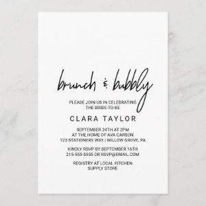 Whimsical Calligraphy Brunch & Bubbly Invitation starting at 2.51