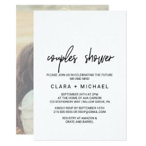 Whimsical Calligraphy | Photo Back Couples Shower Invitation starting at 2.51