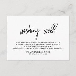 Whimsical Calligraphy Wedding Wishing Well Enclosure Card starting at 1.91