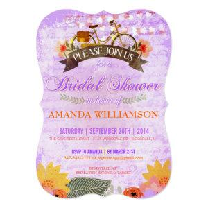 Whimsical Hipster Bicycle Bridal Shower Invitation starting at 3.07
