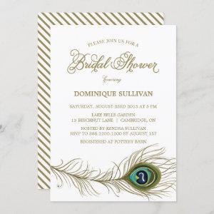 Whimsical Peacock Feather Bridal Shower Invitation starting at 2.40
