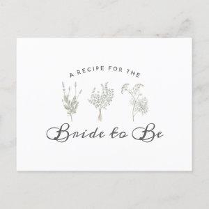 Whispering Wildflowers Bridal Shower Recipe Card starting at 1.70