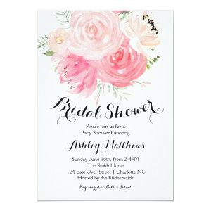 white and purple Floral Bridal Shower Invitation starting at 2.56