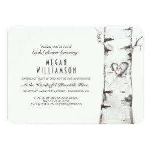 White Birch Tree Rustic Bridal Shower Invitation starting at 2.55