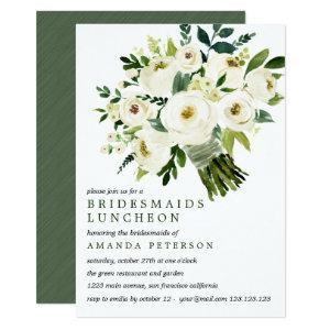 White Bloom | Bouquet Bridesmaids Luncheon Wedding Invitation starting at 2.26