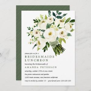 White Bloom | Bouquet Bridesmaids Luncheon Wedding Invitation starting at 2.51