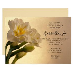 White Double Daffodils Spring Bridal Shower Invitation starting at 2.60