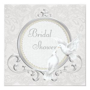 White Doves & Paisley Lace Bridal Shower Invitation starting at 2.51