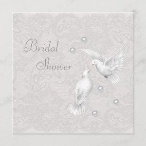 White Doves & Pearls Paisley Lace Bridal Shower starting at 2.51