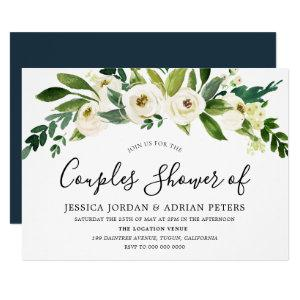 White Floral All Seasons Couples Shower Invitation starting at 2.05