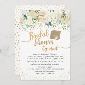 White Gold Floral Bridal Shower by mail Invitation starting at 2.51
