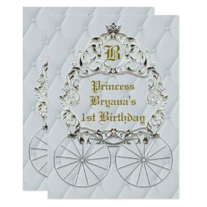 White Gold Royal Crown Carriage Party Invitations starting at 2.87